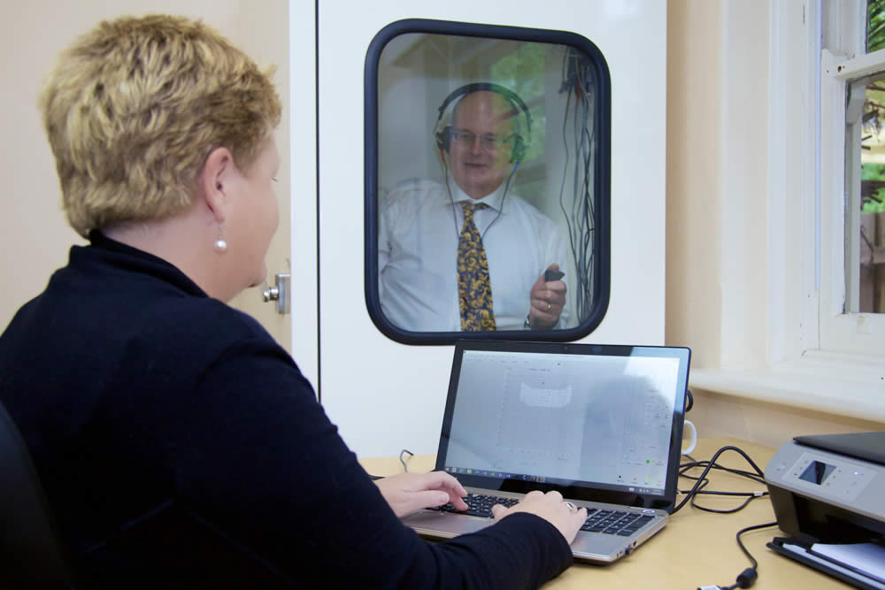 Alison Hennessy hearing tests
